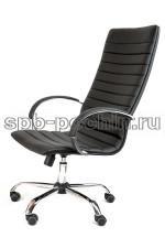Кресло руководителя КР-18 черное в комплектации «Хром»