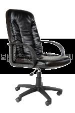 Черное  офисное кресло КР-10