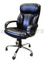 Комфортное и мягкое кресло руководителя КР-19 в комплектации «Хром»