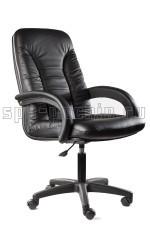 Удобное кожаное офисное кресло КР-10н