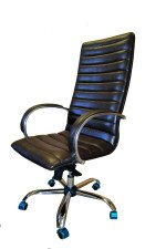 Кресло руководителя КР-18 люкс   в комплектации «Хром»