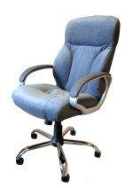 Кресло руководителя КР-19 (флок) в комплектации «Хром»