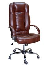 Офисное кресло руководителя КР-21  черри в комплектации «Хром»