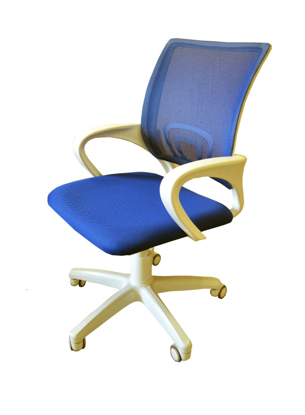 Кресло компьютерное голубое КР-3.1