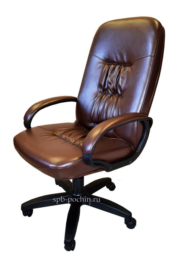 Стильное компьютерное кресло КР-13 (2610) коричневого цвета