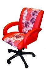 Кресло компьютерное КР-11н красного цвета