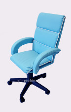 Кресло компьютерное малогабаритное КР-16н лазурного цвета