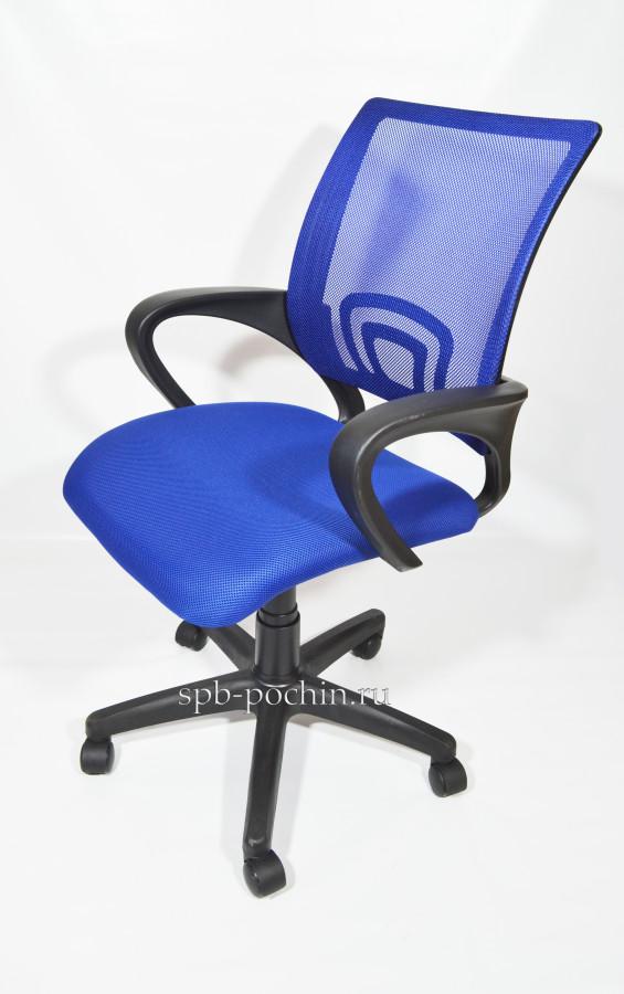 Кресло офисное КР-3 в синем цвете