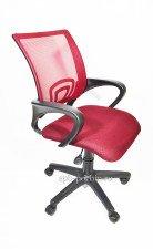 Кресло офисное КР-3 в  цвете  бордо тканевое