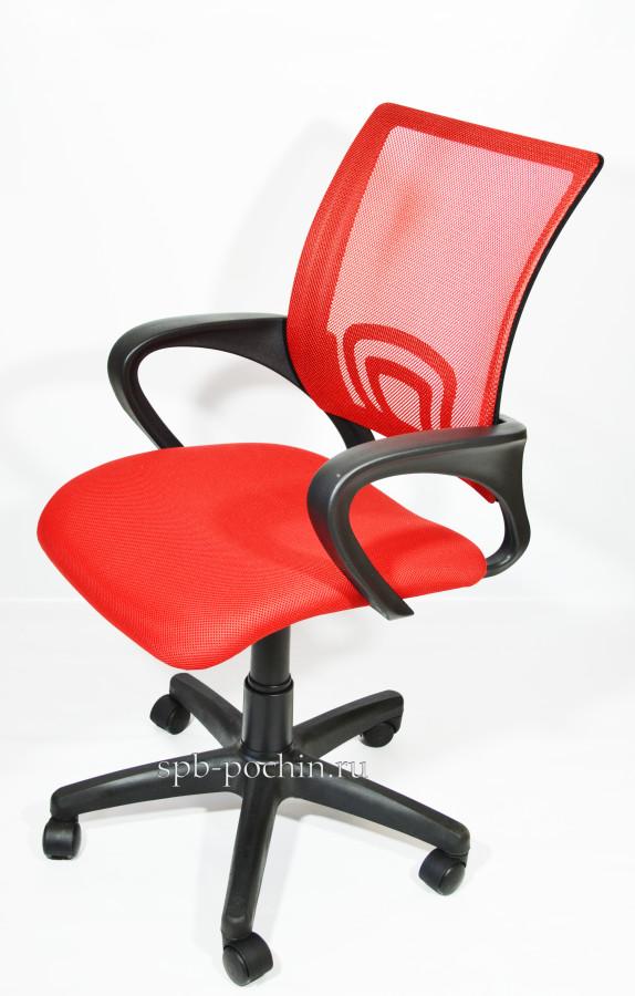 Офисное кресло КР-3 красного цвета