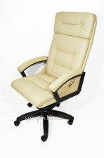 Бежевое кресло руководителя  КР-7