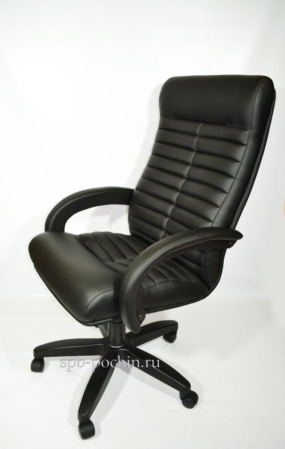 Черное компьютерное кресло КР-14н