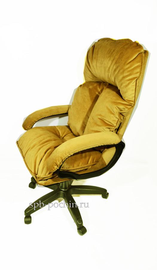 Компьютерное кресло из велюра КР-27 с высокой спинкой