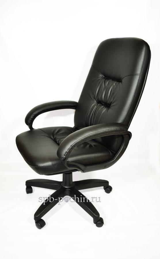 Стильное компьютерное кресло КР-13 (2610) черное.