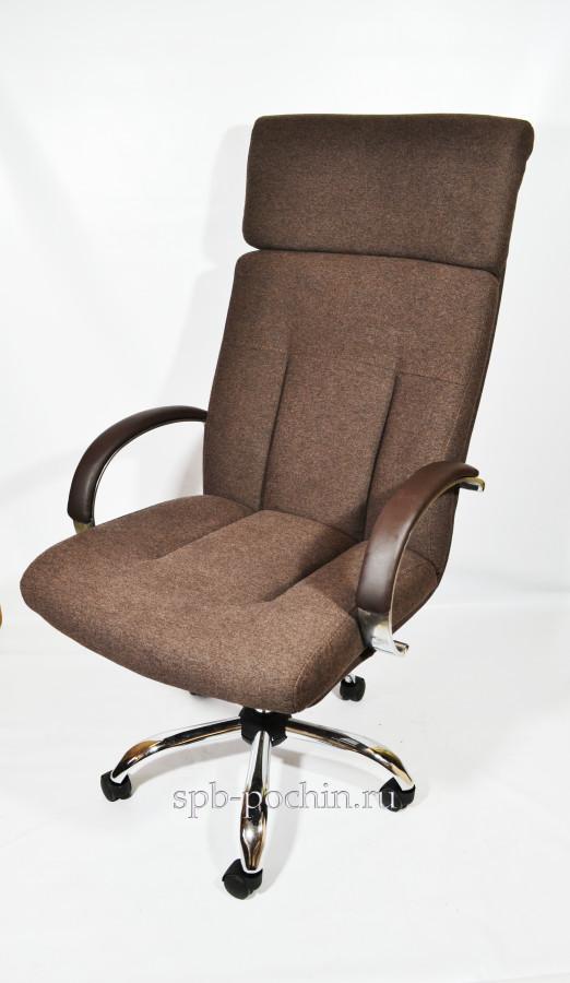 Кресло руководителя КР-17 ткань в комплектации «Хром»