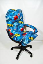 Мягкое удобное компьютерное кресло Рейсеры КР-29 тканевое