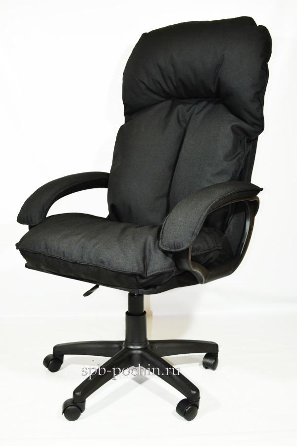 Компьютерное кресло черное из ткани КР-27