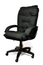 Мягкое удобное компьютерное кресло КР-28 ткань черное