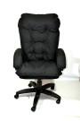 Мягкое удобное компьютерное кресло КР-28 из черной ткани