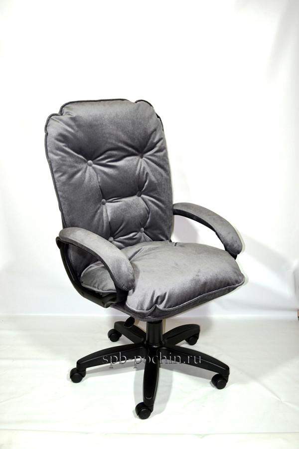 Мягкое удобное компьютерное кресло КР-28 велюр