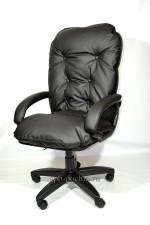 Мягкое удобное компьютерное кресло КР-28 темно серое ткань