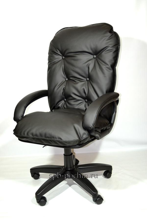 Мягкое удобное компьютерное кресло КР-28 серое ткань