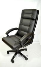 Кресло руководителя КР-7 черное  со вставкой