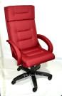 Красное кресло руководителя КР-7 ткань