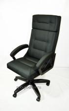 Черное кресло руководителя  тканевое КР-7