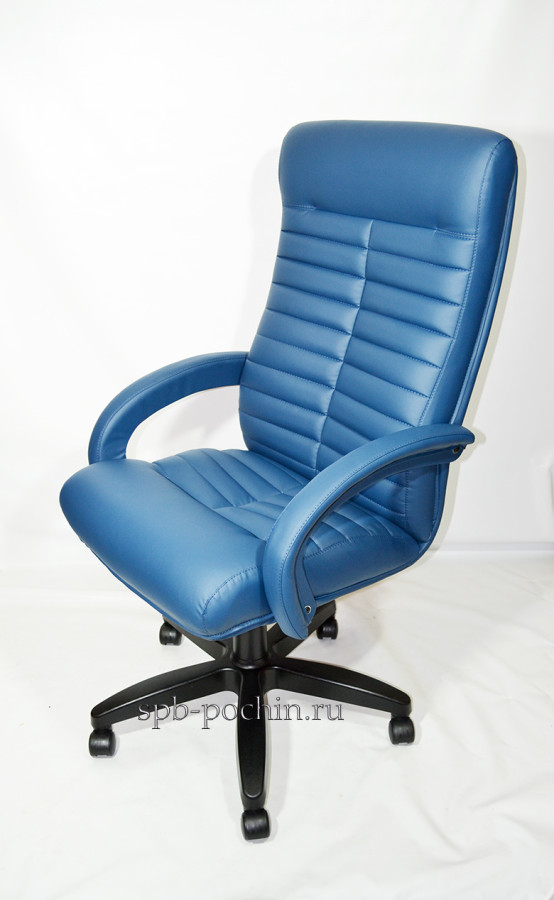 Синее компьютерное кресло КР-14н