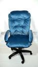Мягкое удобное компьютерное тканевое кресло КР-28 велюр,