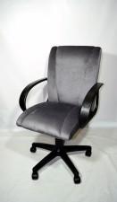 Серое компьютерное кресло КР-11 тканевое