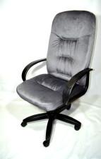 Стильное компьютерное кресло  КР-13  серое флок.