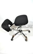 Компьютерное кресло КР-8 коленный стул мини ткань в комплектации «Хром»