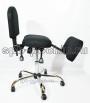 КР-8 коленный стул трансформер ткань в комплектации «Хром»