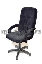 Стильное компьютерное тканевое кресло  КР-13  черное флок.