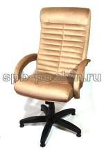 Синее компьютерное кресло КР-14н  велюр