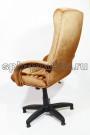 Бежевое тканевое компьютерное кресло КР-14н велюр,