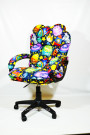 Мягкое удобное компьютерное кресло НЛО КР-29 тканевое