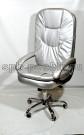 Компьютерное кресло руководителя КР-23 с высокой спинкой серебро