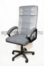Кресло руководителя  тканевое КР-7  серый велюр