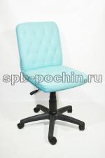 Кресло компьютерное кожаное КР-9 мини голубое