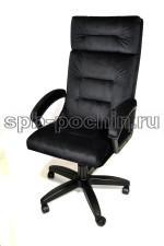 Кресло руководителя КР-7 черное ткань.
