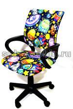 Компьютерное кресло КР-3 ткань цветная