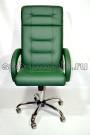 Офисное кресло руководителя КР-7 зеленое