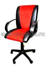Кресло компьютерное КР-11 черно-красное