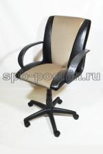 Кресло компьютерное КР-11 черно-бежевое
