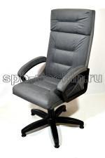 Серое кресло руководителя  тканевое КР-7