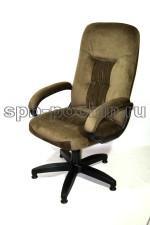 Компьютерное кресло КР-13 темно-зеленое ткань.