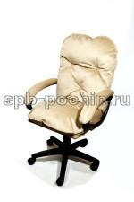 Мягкое удобное компьютерное кресло КР-29 бежевое ткань (Севен)